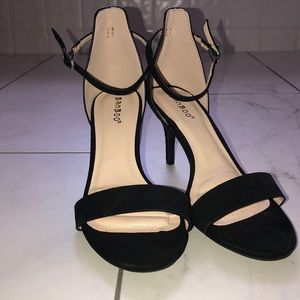 Black Bamboo Short Heels Size 8